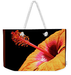 Weekender Tote Bag featuring the photograph Yellow Hibiscus by Marie Hicks