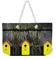 Weekender Tote Bag featuring the photograph Yellow Homes - 365-268 by Inge Riis McDonald