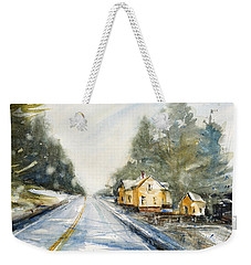 Yellow House On The Right Weekender Tote Bag by Judith Levins