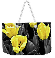 Yellow In Black And White Weekender Tote Bag by Steven Parker