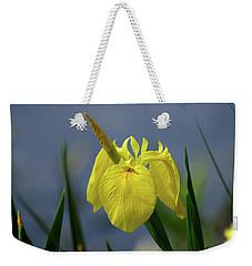 Yellow Iris Weekender Tote Bag by Jean Haynes