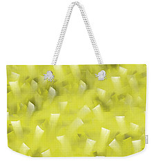 Weekender Tote Bag featuring the digital art Yellow Knife Abstract by Shelli Fitzpatrick