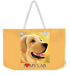 Yellow Lab Portrait Weekender Tote Bag