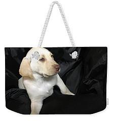 Yellow Lab Puppy Sadie Weekender Tote Bag by Jeffrey Koss