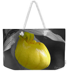 Yellow Lady Slipper Partial Weekender Tote Bag