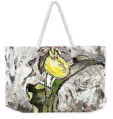 Yellow Lady's Slipper Weekender Tote Bag