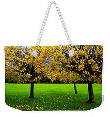 Yellow Leaves At Muckross Gardens Killarney Weekender Tote Bag