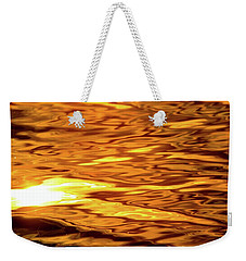 Yellow Light On Water  Weekender Tote Bag by Lyle Crump