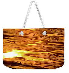 Yellow Light On Water  Weekender Tote Bag