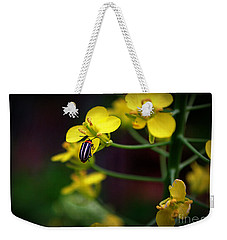 Weekender Tote Bag featuring the photograph Yellow Lightning by Lisa L Silva