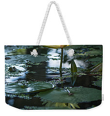 Yellow Lilly Tranquility Weekender Tote Bag