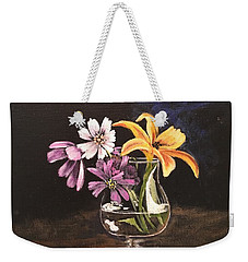 Yellow Lily Weekender Tote Bag by Sharon Schultz