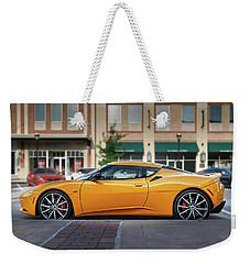Yellow Lotus Weekender Tote Bag