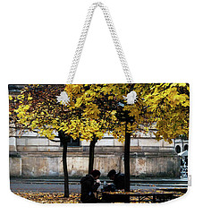 Weekender Tote Bag featuring the photograph Yellow Lunch by Ana Mireles
