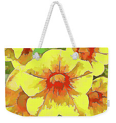 Yellow Million Bells Weekender Tote Bag