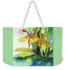 Yellow Moccasin Flowers Weekender Tote Bag