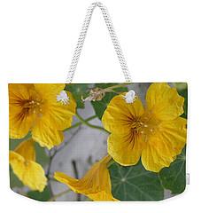 Yellow Nasturtium Weekender Tote Bag