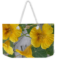 Yellow Nasturtium Weekender Tote Bag