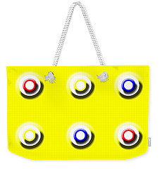 Yellow Nine Squared Weekender Tote Bag