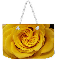 Yellow Ochre Rose Weekender Tote Bag by Jim Harris