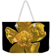 Yellow On Black Weekender Tote Bag