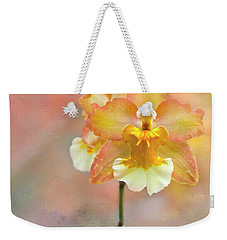 Weekender Tote Bag featuring the photograph Yellow Orchid by Ann Bridges