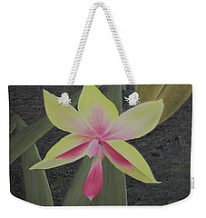 Yellow Orchid Weekender Tote Bag