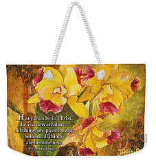 Yellow Orchids Acrylic 2 Cor 5 Weekender Tote Bag