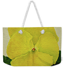 Yellow Pansy Weekender Tote Bag