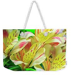 Yellow Peruvian Lilies In Bloom Weekender Tote Bag