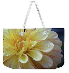 Yellow Petals With Raindrop Weekender Tote Bag by Patricia Strand