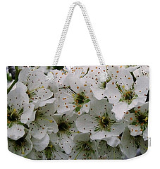 Weekender Tote Bag featuring the photograph Yellow Plum Blossoms  by Sharon Duguay