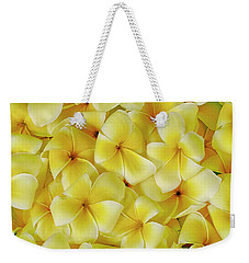 Yellow Plumerias Weekender Tote Bag