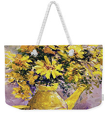 Yellow Pot Of Sunshine Weekender Tote Bag