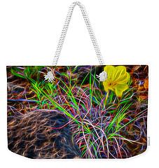 Yellow Primrose Electrify Weekender Tote Bag