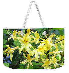 Yellow Rhododendron Weekender Tote Bag by Carla Parris