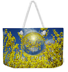 Weekender Tote Bag featuring the photograph Yellow by Robert Geary