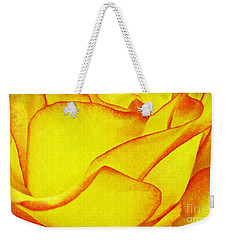 Yellow Rose Abstract Weekender Tote Bag