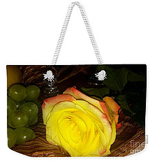 Yellow Rose And Grapes Weekender Tote Bag