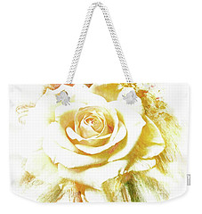 Weekender Tote Bag featuring the photograph yellow Rose by Athala Carole Bruckner
