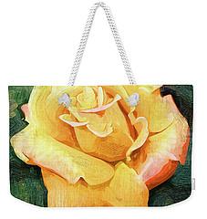 Yellow Rose Bloom In Oil Weekender Tote Bag by Kirt Tisdale