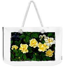 Yellow Rose Bush Weekender Tote Bag