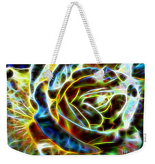 Yellow Rose Fractal Weekender Tote Bag