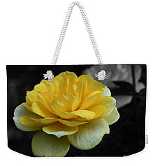 Yellow Rose In Bloom Weekender Tote Bag