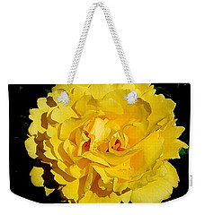 Yellow Rose Kissed By The Rain Weekender Tote Bag
