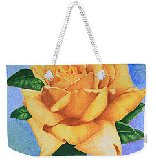 Yellow Rose Weekender Tote Bag by Marna Edwards Flavell