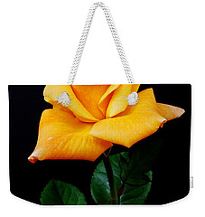 Yellow Rose Weekender Tote Bag by Michael Peychich