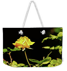 Yellow Rose  Weekender Tote Bag by Mike Murdock