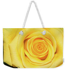 Yellow Rose Weekender Tote Bag by Nance Larson