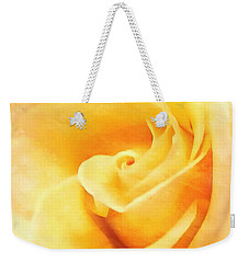 Weekender Tote Bag featuring the photograph Yellow Rose - Sweet Whispers by Janine Riley